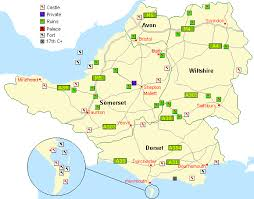 somerset map somerset dorset and wiltshire castles and forts