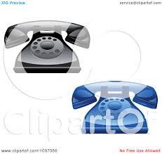Desk Telephones Clipart 3d Shiny Retro Desk Telephones Royalty Free Vector