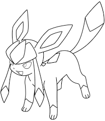 glaceon pokemon coloring page free printable coloring pages