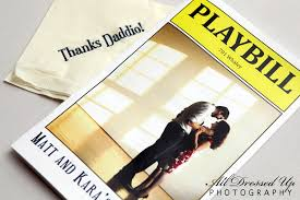 playbill wedding program playbill programs by invitation only event planning design