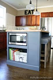 microwave in kitchen island microwave in the island finally from thrifty decor