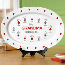 personalized serving platter ceramic personalized kitchen gifts from personal creations