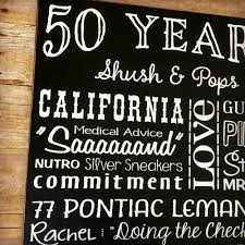 50 year anniversary gift 50th anniversary gift for parents 50 year anniversary signs with
