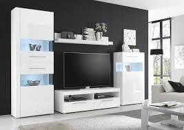 Wohnzimmerschrank H Fner Wohnwand Modern Weiß Grau Hochglanz Mxpweb Com