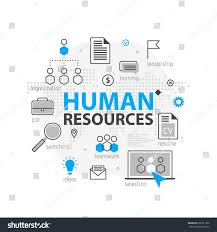 hr strategy template human resources web banner concept outline stock vector 692531362