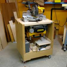 wood table saw stand flip top tool stand