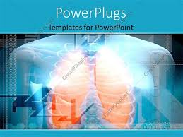 powerpoint design lungs powerpoint template human body and lungs in orange color 16725