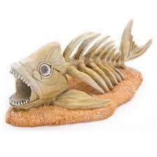 fish skeleton glow in the aquarium ornament