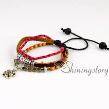 leather bracelet with charms images Flower wholesale leather wristbands custom charm bracelets jpg