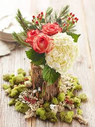 christmas floral centerpiece home decorating interior design