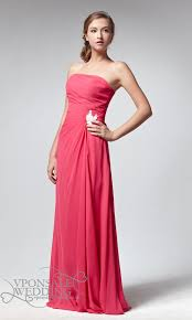 long blush pink empire waist bridesmaid dress dvw0061 vponsale