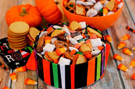 pumpkin candy corn snack mix pumpkin n spice