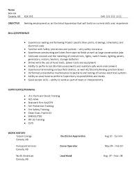 Nice Resume Examples by Resume Sample Electrical Apprentice College To Career