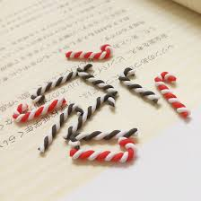 Plastic Candy Canes Wholesale Aliexpress Com Buy Tanduzi 100pcs Wholesale Kawaii Polymer Clay