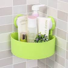 Plastic Bathroom Storage Unique Bargains Plastic Bathroom Wall Corner Suction Cup Triangle