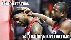 Lebron James Hairline Meme - 50 cool nba memes