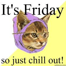 Chill Out Meme - it s friday so just chill out cat meme cat planet cat planet