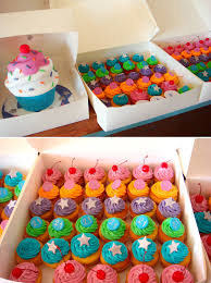 butter hearts sugar giant cupcake cake and cupcakes