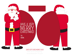 gift card free free santa money or gift card holder free printable i heart