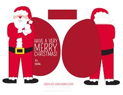 free santa money or gift card holder free printable i heart