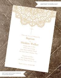 Sample Of Invitation Card For Christening Baptism Invitation Christening Invite Printable Printable