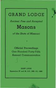 1966 proceedings grand lodge of missouri by missouri freemasons