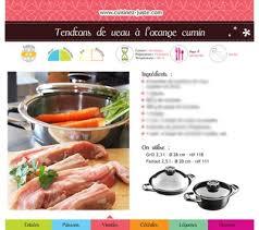 recettes cuisine pdf fiche recette viande tendrons de veau à l orange cumin version pdf