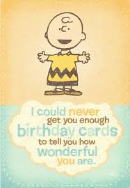 charlie brown and the peanuts gang birthday card greeting cards