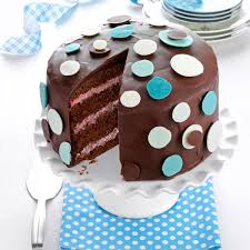 chocolate raspberry polka dot cake recipe taste of home