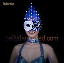 Led Light Halloween Costume Blue Light Mask Blue U0026white Lights Cosplay Halloween Belly Dance