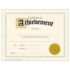 Certification Letter Of Accomplishment Amazon Com Trend Enterprises