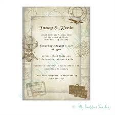 travel wedding invitation template