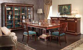 Dining Room Showcase Dining Table Ermitage Impero Style Vimercati Classic Furniture