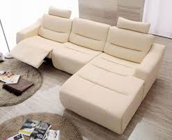 White Or Beige Modern Contemporary Sofa With Chaise Google - Leather sofas chicago