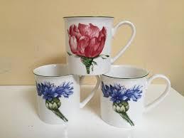 villeroy boch flora mugs 3 2 cornflower 1 mint