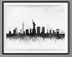 New York City Home Decor New York Skyline Etsy