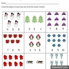 counting numbers 1 to 20 winter counting numbers practice 1 20 differentiated common