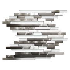 stainless steel mosaic tile backsplash steel mosaic tiles giving your kitchen a modern look