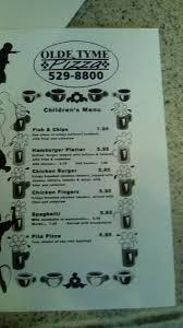 olde tyme pizza home saint andrews new brunswick menu