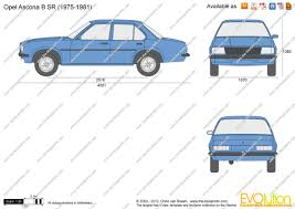 opel ascona the blueprints com vector drawing opel ascona b sr