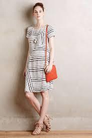 maeve clothing lyst maeve stripestack shift dress in white