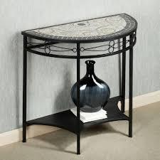 Half Moon Console Table Furniture Black Iron Half Moon Console Table Having Shelf With