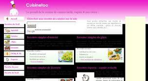 site recettes cuisine recettes de cuisine faciles cuisinetoo recettes cuisine