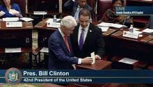 Seeking Gavel Cast President Bill Clinton Casts Votes Electoral College
