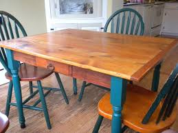 classic affordable rustic kitchen tables with blue leg and single