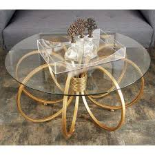 Gold Round Coffee Table Round Coffee Tables Accent Tables The Home Depot