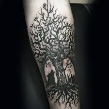 41 best small tree and moon tattoo images on pinterest arm