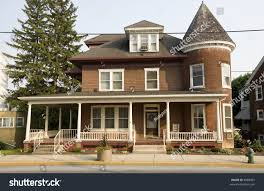 victorian style house red brick victorian style house stock photo 4088497 shutterstock