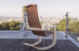 Contemporary Rocking Chairs J Rusten Furniture Studio The Modern Rocking Chair
