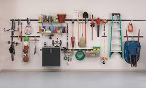Garage Wall Organizer Grid System - 100 garage organization diy tips easy diy garage workbench